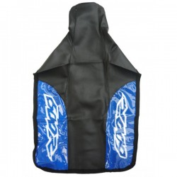 HONDA XR600R SEAT COVER BLACK BLUE